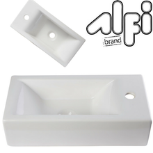 Alfi Brand AB108 Small Rectangle Porcelain Wall Mount Basin