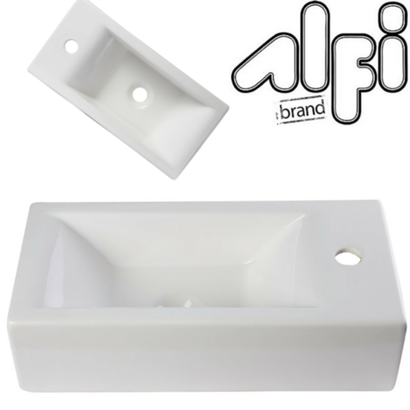 Buy Alfi Brand AB108 Small Rectangle Porcelain Wall Mount Basin