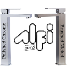 Alfi Brand AB1129 Single Lever Tall Square Bathroom Faucet Polished/Brushed