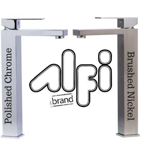 Buy Alfi Brand AB1129 Single Lever Tall Square Bathroom Faucet Polished/Brushed
