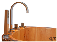 ALFI brand AB1148 59'' Free Standing Oak Wooden Bathtub with Tub Filler - Zen Tap Sinks - 4