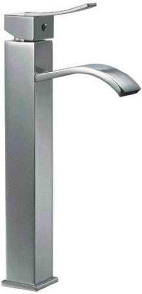 Buy Alfi Brand AB1158 Single Lever Tall Square Bathroom Faucet Polished/Brushed - Zen Tap Sinks - 1