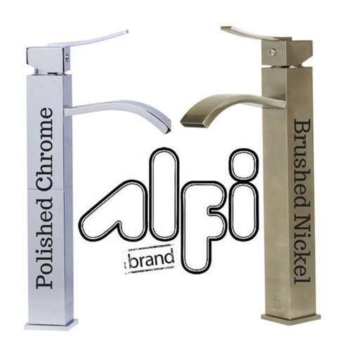 Buy Alfi Brand AB1158 Single Lever Tall Square Bathroom Faucet Polished/Brushed