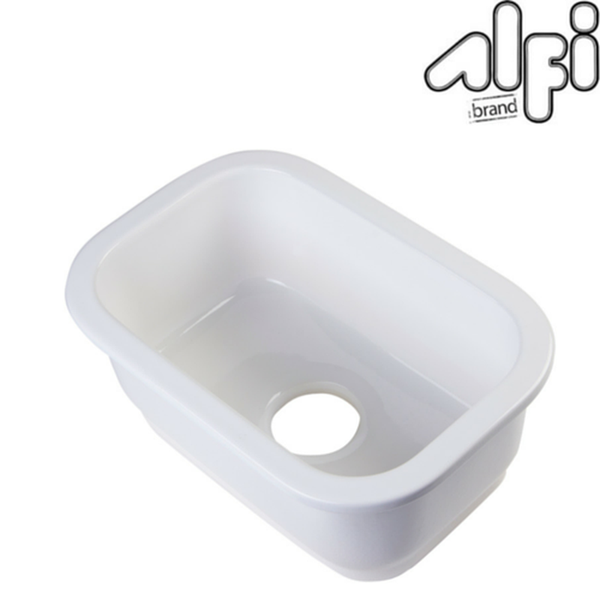 Buy Alfi Brand AB1218 Rectangular White Fireclay Prep Sink