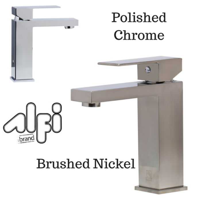 Alfi Brand AB1229 Single Lever Square Bathroom Faucet Polished or Brushed