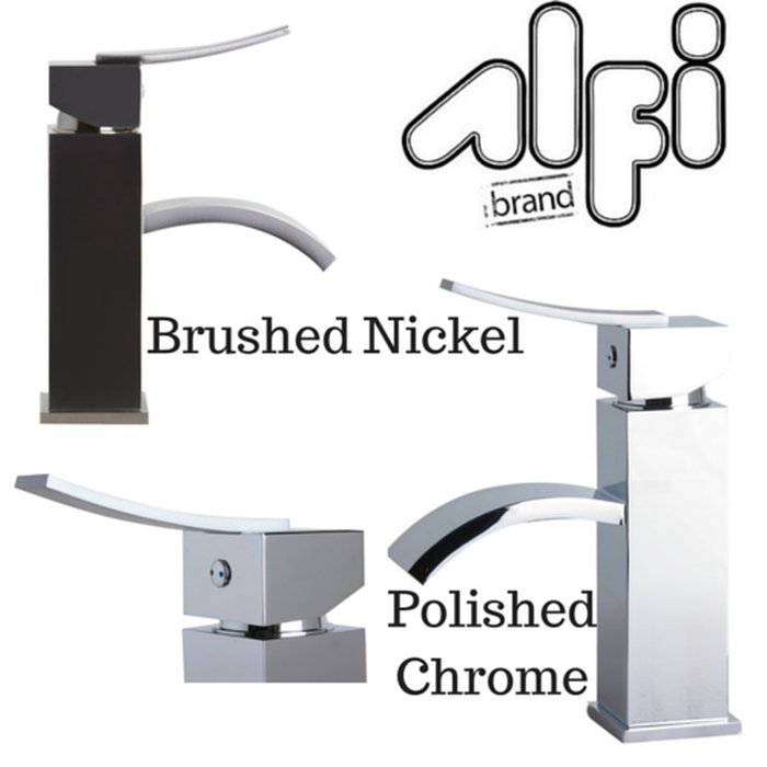 Alfi Brand AB1258 Single Lever Square Bathroom Faucet Polished or Brushed