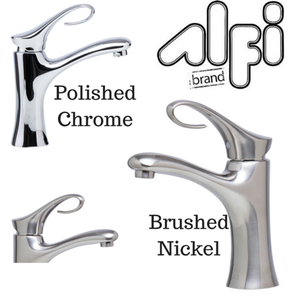 Alfi Brand AB1295 Single Lever Curled Bathroom Faucet Polished or Brushed