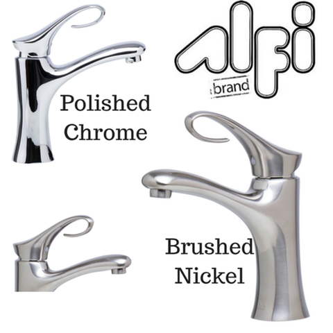 Buy Alfi Brand AB1295 Single Lever Curled Bathroom Faucet Polished or Brushed