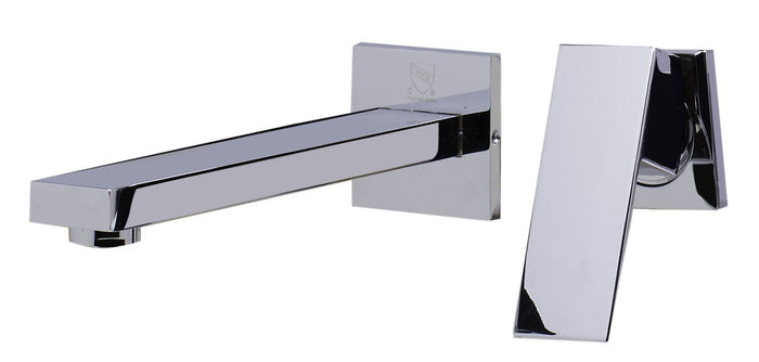 Alfi Brand AB1468 Single Lever Wallmount Bathroom Faucet Polished & Brushed