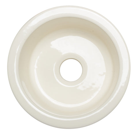 ALFI brand AB1818R Round 17 Inch Single Bowl Fireclay Prep Sink