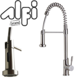 Buy Alfi Brand AB2013 Solid Stainless Steel Commercial Spring Kitchen Faucet