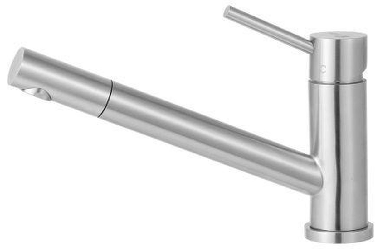 Buy Online Alfi Brand AB2025 Solid Stainless Steel Pull Out Kitchen Faucet - Zen Tap Sinks - 1