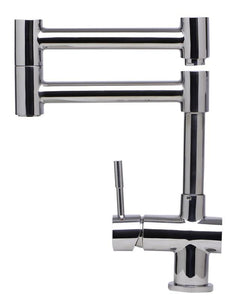 Alfi Brand AB2038 Solid Stainless Steel Retractable Kitchen Faucet