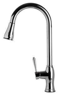 Alfi Brand AB2043 - Traditional Solid Polished Stainless Steel Pull Down Kitchen Faucet