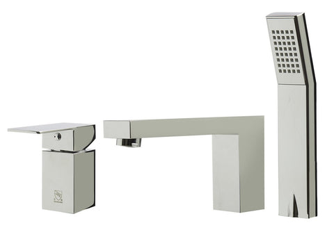 Alfi Brand AB2322 - Single Lever Bathroom Faucet /w Square Hand Held Pull-Out Shower Head