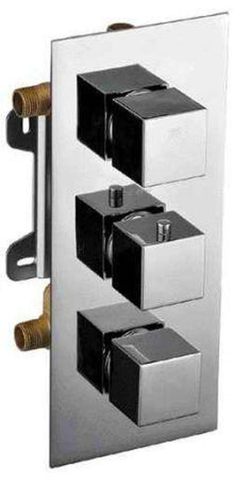 Buy Alfi Brand AB2801 3-Way Thermostatic Valve Shower Mixer Square Knobs - Zen Tap Sinks - 1