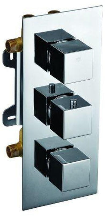 Buy Alfi Brand AB2901 - Concealed 4-Way Thermostatic Valve Shower Mixer /w Square Knobs - Zen Tap Sinks - 1