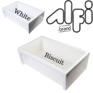 "Alfi Brand AB3018ARCH 30"" Arched Apron Thick Wall Fireclay Single Bowl Farm Sink"