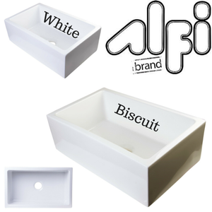 "Alfi Brand AB3018SB - 30"" Smooth Solid Thick Wall Fireclay Single Bowl Farm Sink"