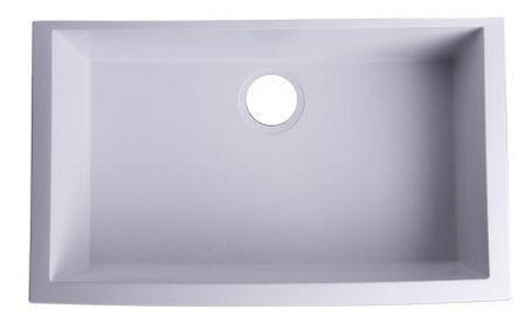 "Buy Alfi Brand AB3020UM - 30"" Undermount Single Bowl Granite Composite Kitchen Sink - Zen Tap Sinks - 1"