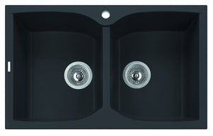 "Alfi Brand AB3220DI - 32"" Drop-In Double Bowl Granite Composite Kitchen Sink"