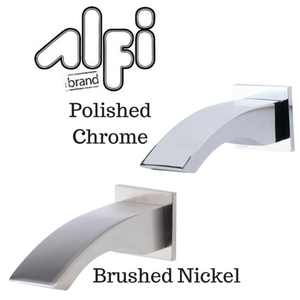 Alfi Brand AB3301 Curved Tub Filler Bathroom Spout Polished or Brushed