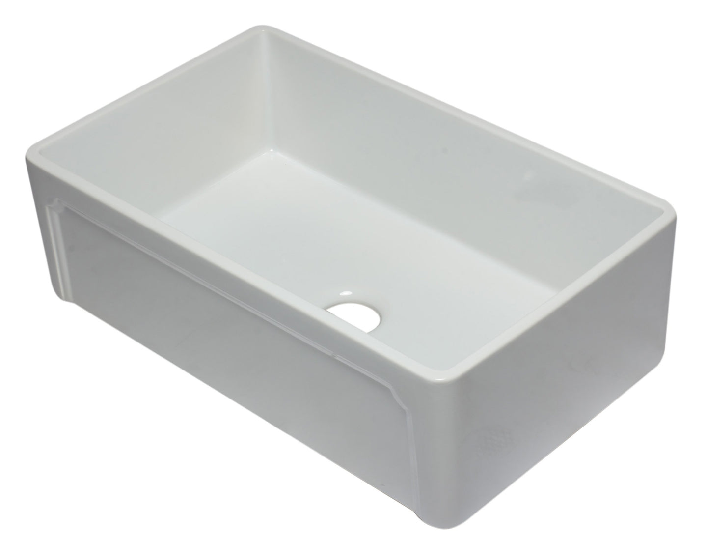 ALFI brand AB3320SB 33 inch Reversible Single Fireclay Farmhouse Kitchen Sink