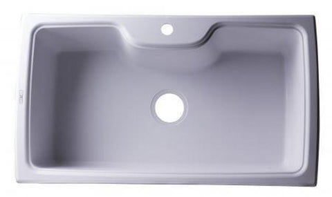"Buy ALFI Brand AB3520DI - 35"" Drop-In Single Bowl Granite Composite Kitchen Sink - Zen Tap Sinks - 1"