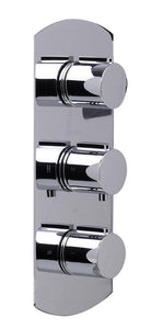 Alfi Brand AB4001 3-Way Thermostatic Valve Shower Mixer Round Knobs