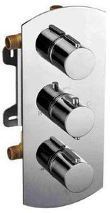 Buy Alfi Brand AB4001 3-Way Thermostatic Valve Shower Mixer Round Knobs - Zen Tap Sinks - 1