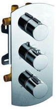Alfi Brand AB4101 - Concealed 4-Way Thermostatic Valve Shower Mixer /w Round Knobs - Zen Tap Sinks - 1
