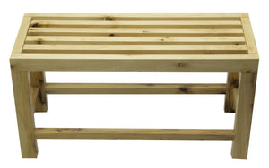 Buy ALFI brand AB4401 26'' Wooden Bench for your Wooden Tub - Zen Tap Sinks - 3