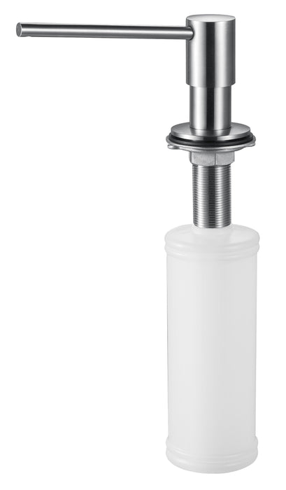 ALFI brand AB5006 Ultra Modern Round Solid Stainless Steel Soap Dispenser