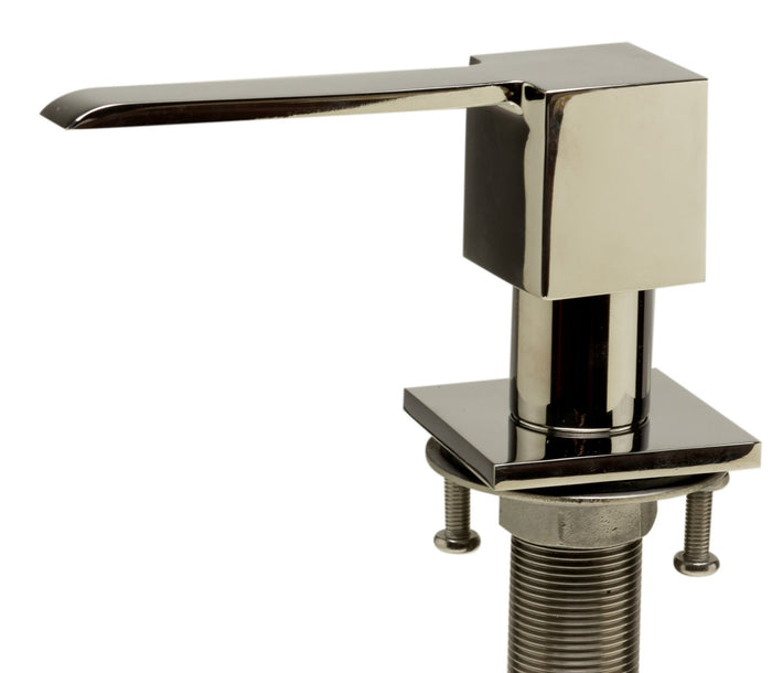 ALFI brand AB5007 Ultra Modern Square Solid Stainless Steel Soap Dispenser