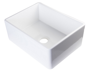"ALFI brand AB505 26"" Contemporary Smooth Fireclay Farmhouse Kitchen Sink - Zen Tap Sinks - 2"