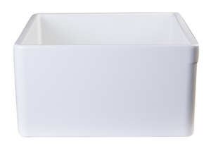 "ALFI brand AB505 26"" Contemporary Smooth Fireclay Farmhouse Kitchen Sink - Zen Tap Sinks - 5"