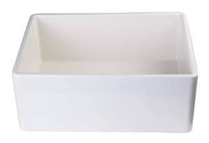 "ALFI brand AB505 26"" Contemporary Smooth Fireclay Farmhouse Kitchen Sink - Zen Tap Sinks - 6"