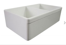 "ALFI brand AB539 32 3/4"" Lip Double Bowl Fireclay Farmhouse Apron Kitchen Sink - Zen Tap Sinks - 2"