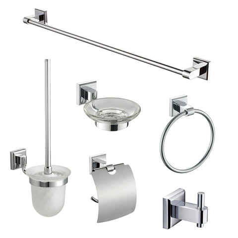 ALFI brand AB9509 6 Piece Matching Bathroom Accessory Set