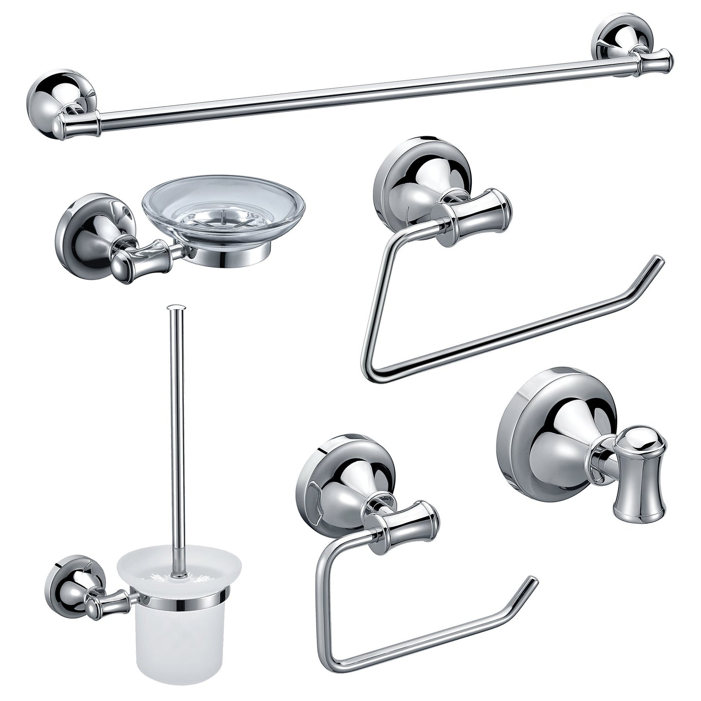 ALFI brand AB9521 6 Piece Matching Bathroom Accessory Set