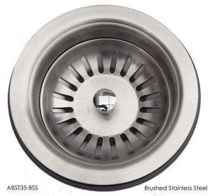"Buy ABST35 Solid Stainless Steel 3 1/2"" Kitchen Sink Strainer / Drain - Zen Tap Sinks - 1"