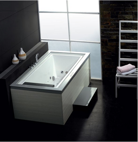 BUY EAGO AM146 75inches Modern Touch Screen Controlled White Whirlpool Bathtub - Zen Tap Sinks - 1