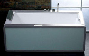 Buy EAGO AM151 6' Modern Whirlpool Bath Tub With Colored Light Up Glass Panel w/ Left or Right Drain - Zen Tap Sinks - 2