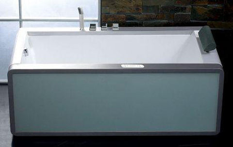 Buy EAGO AM151 6' Modern Whirlpool Bath Tub With Colored Light Up Glass Panel w/ Left or Right Drain - Zen Tap Sinks - 1