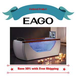 Buy EAGO AM195 6' Right Drain Rectangular Free Standing Air Bath Tub with TV Screen - Zen Tap Sinks - 1