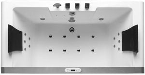 Buy EAGO AM196 & AM196HO 6' Clear Rectangular Whirlpool Bath Tub for Two with Fixtures - Zen Tap Sinks - 7
