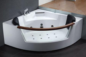 Buy EAGO AM197 5' Rounded Clear Modern Corner Whirlpool Bath Tub with Fixtures - Zen Tap Sinks - 2