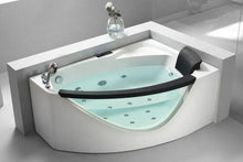 Buy EAGO AM198-L / AM198-R 5' Right Drain Rounded Clear Modern Corner Whirlpool Bath Tub with Fixtures - Zen Tap Sinks - 1