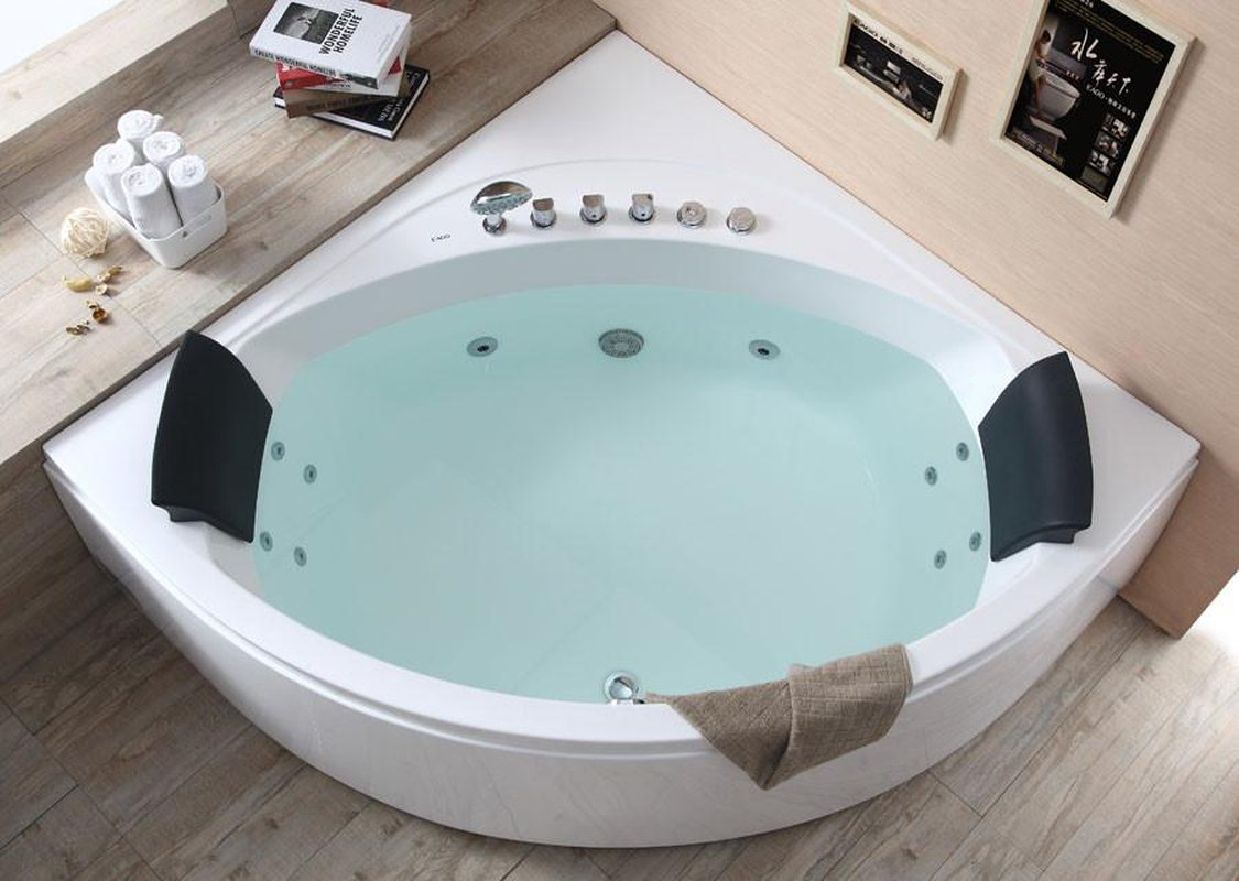 Buy EAGO AM200 5\' Rounded Modern Double Seat Corner Whirlpool Bath ...