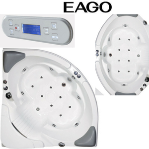 EAGO AM505 / AM505HO 5' CORNER WHIRLPOOL BATH TUB WITH HEATER & OZONE